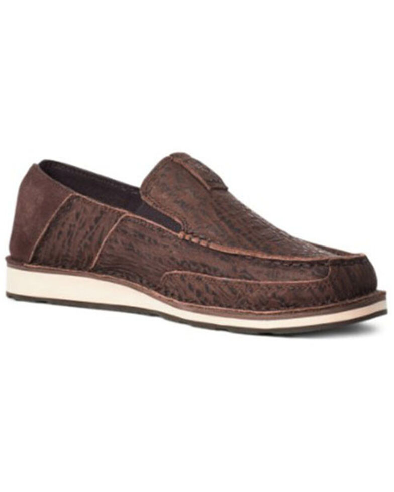Ariat Men's Bison Cruiser Shoes - Moc Toe, Brown, hi-res