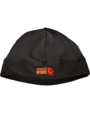 Ariat Men's Black FR Polartec Work Beanie, Black, hi-res