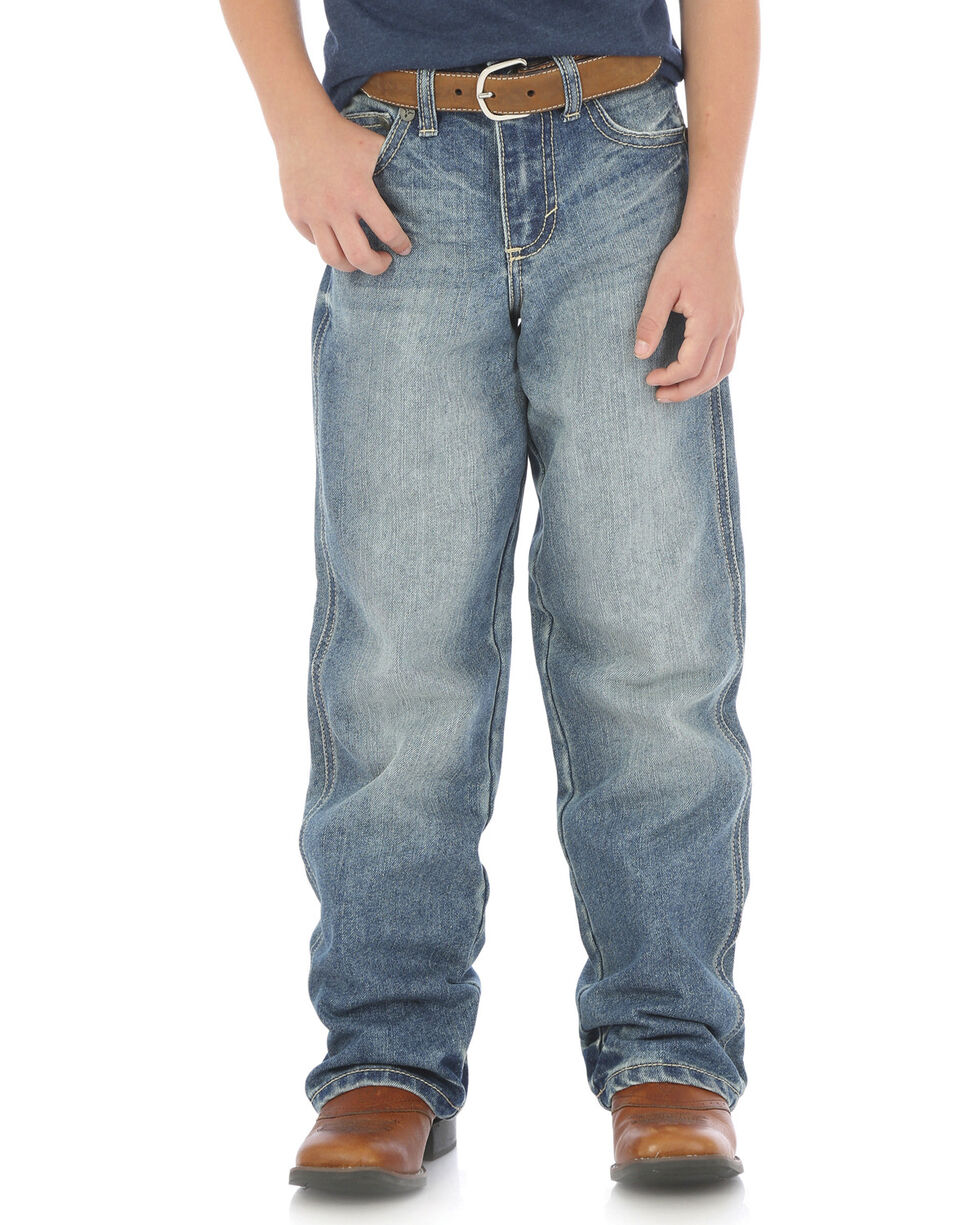 Wrangler 20X Boys' No. 33 Relaxed Fit Jeans - Straight Leg , Indigo, hi-res