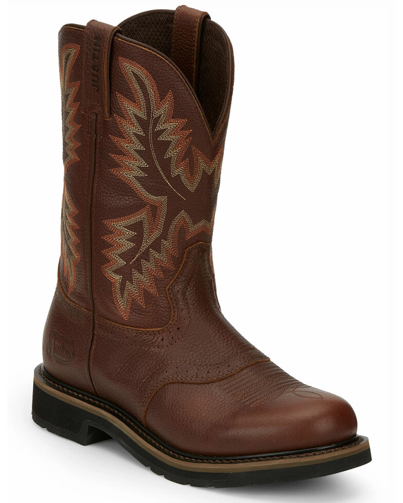Justin Men's Superintendent Western Work Boots - Soft Toe, Rust Copper, hi-res