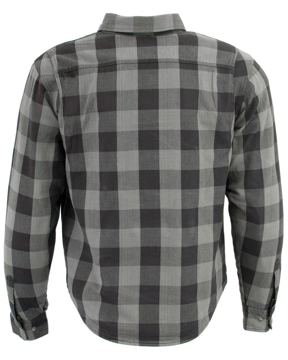 Milwaukee Performance Men's Aramid Checkered Plaid Biker Shirt - Big & Tall, Dark Grey, hi-res