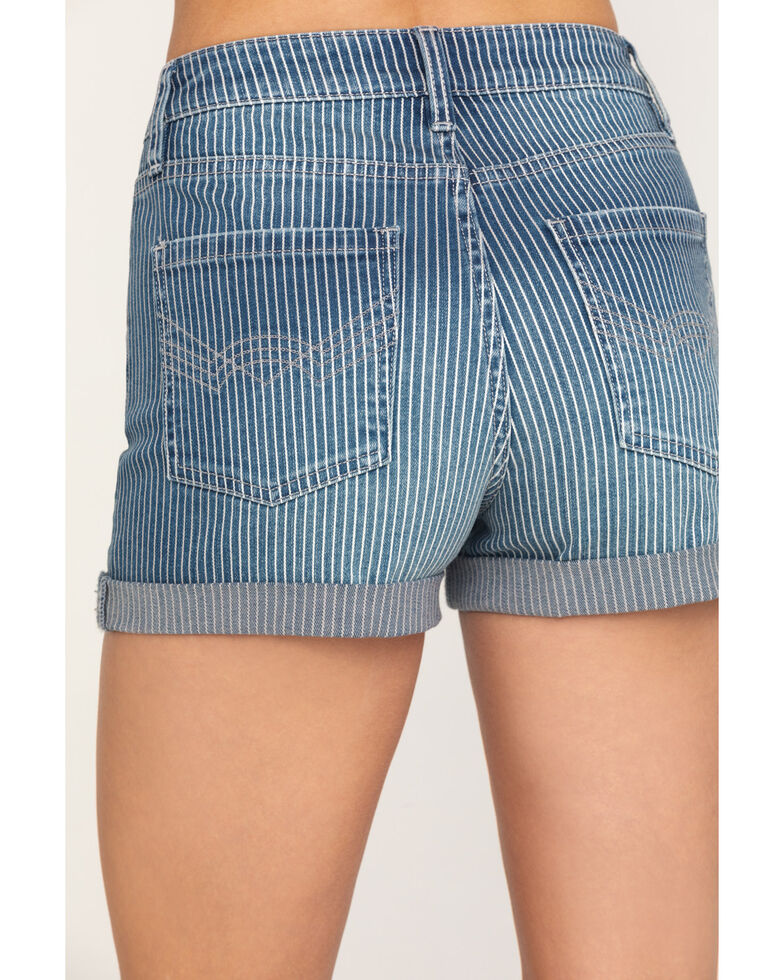 Idyllwind Women's Railway High Rise Rolled Cuff Denim Shorts, Blue, hi-res