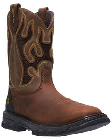 Wolverine Men's Tan Ranch King Western Work Boots - Soft Toe, Tan, hi-res