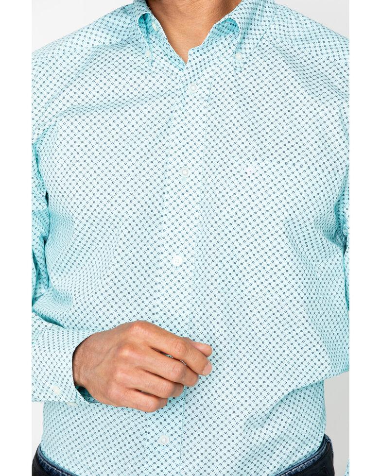 Ariat Men's Vancaster Long Sleeve Shirt, Light Green, hi-res