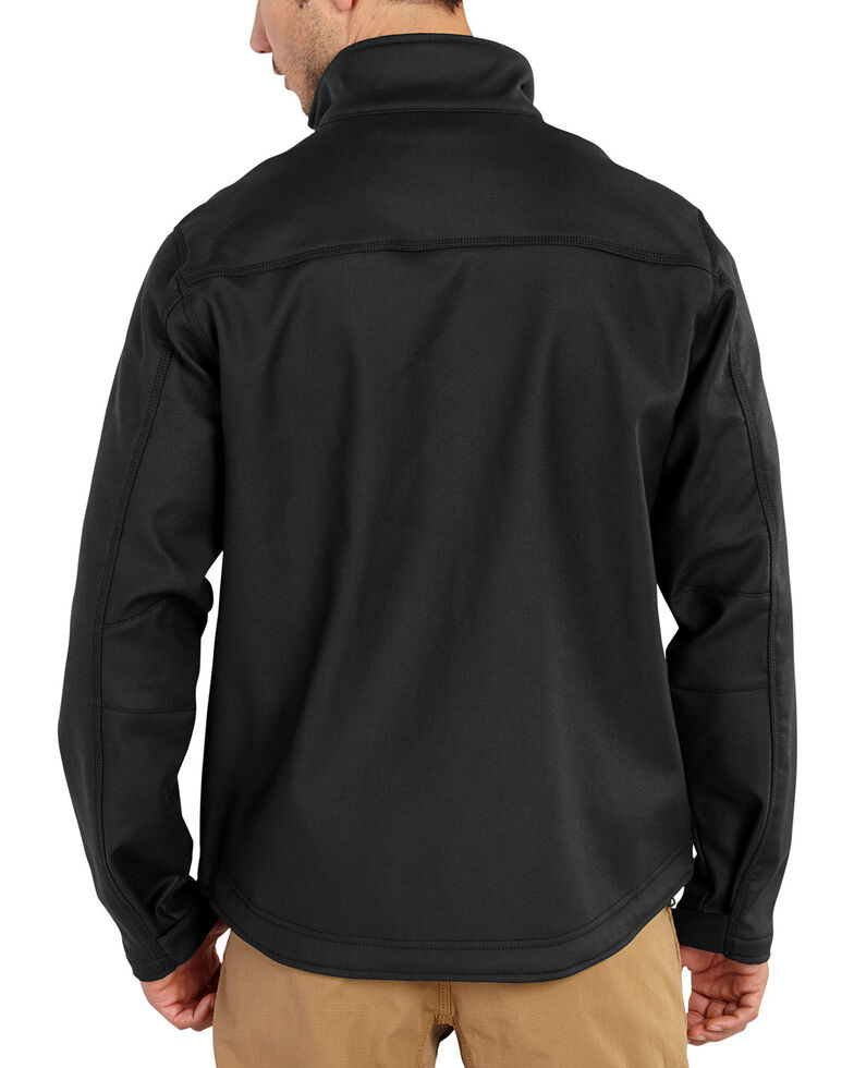 Carhartt Men's Pineville Softshell Work Jacket - Big & Tall, Black, hi-res