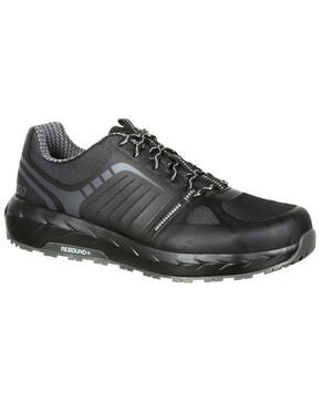Rocky Men's LX Athletic Work Shoes - Safety Toe, Black, hi-res