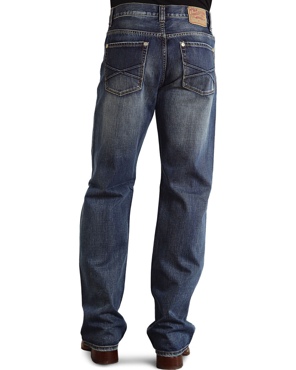 Stetson Men's Modern Fit Boot Cut Jeans, Med Wash, hi-res