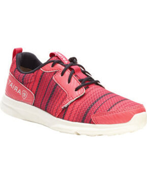 Ariat Youth Fuse Tennis Shoes, Pink, hi-res