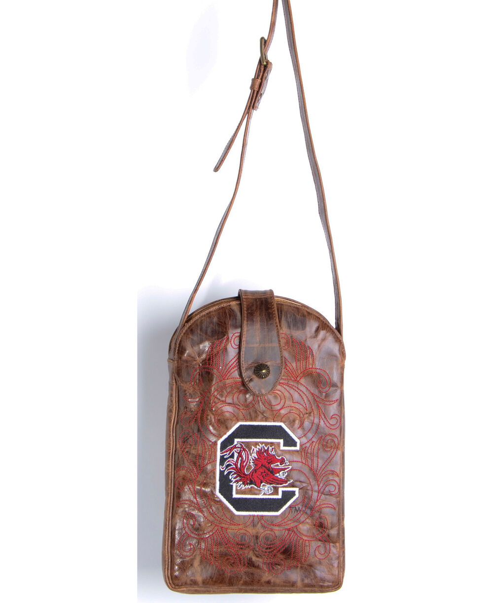 Gameday Boots University of South Carolina Crossbody Bag, Brass, hi-res