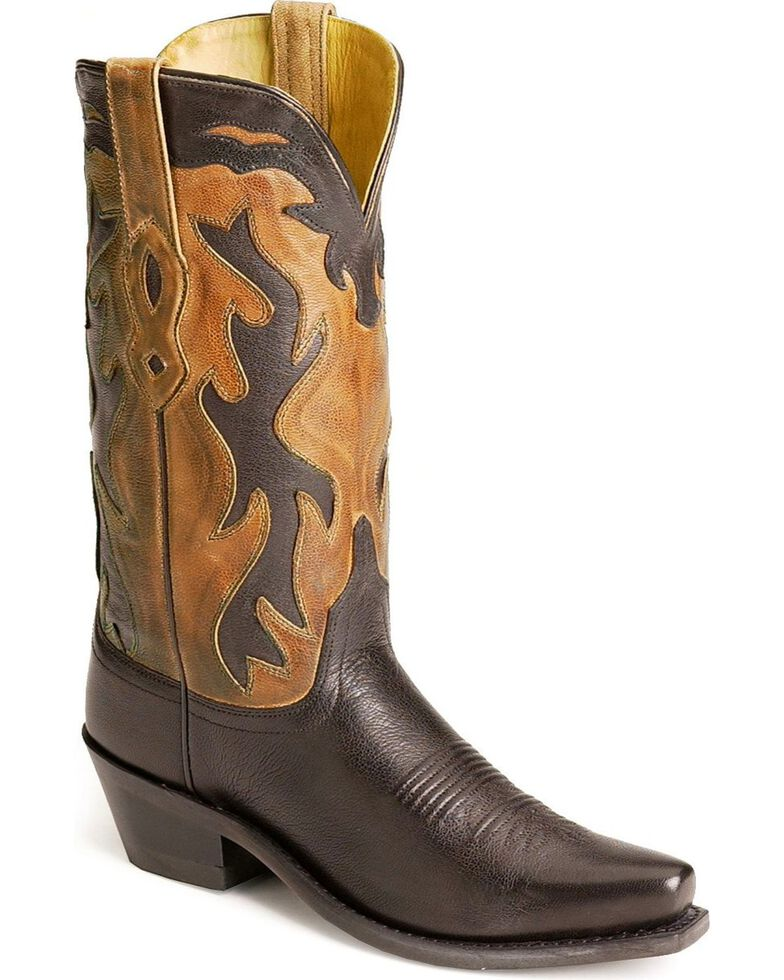 "Jama Women's Fashion Wear 12"" Western Boots, Black, hi-res"