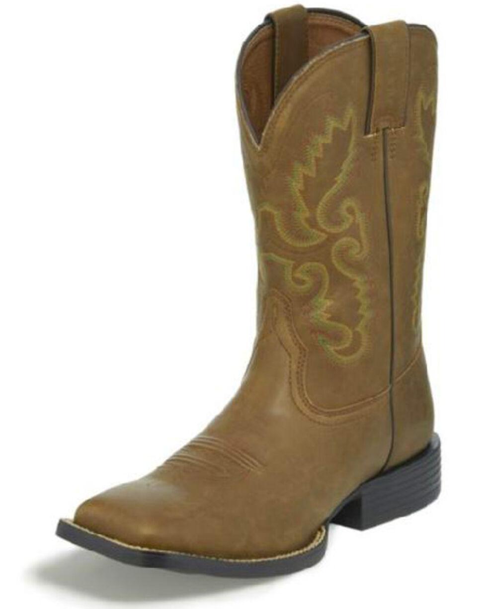 Justin Men's Hinton Bay Western Boots, Brown, hi-res
