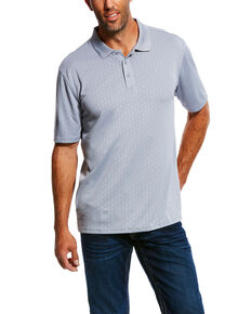 Ariat Men's HIVE TEK Stretch Polo Shirt , Grey, hi-res