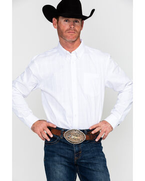 Cody James Core Men's Brunch Solid Long Sleeve Western Shirt , White, hi-res