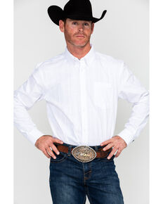 Cody James Core Men's Brunch Solid Long Sleeve Western Shirt , White, hi-res