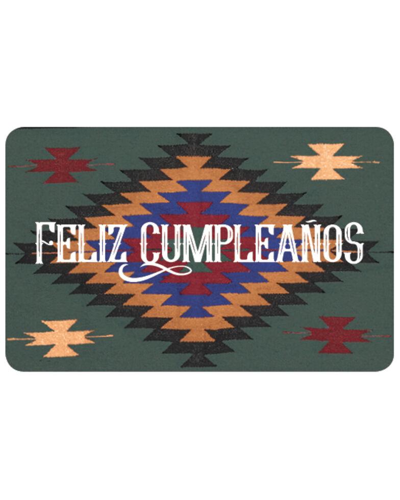 Boot Barn® Feliz Cumpleanos Gift Card, No Color, hi-res