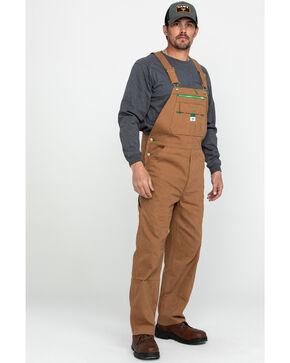 Dickies Men's Liberty Duck Bib Work Overalls , Pecan, hi-res