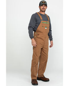 Liberty Men's Duck Bib Work Overalls , Pecan, hi-res