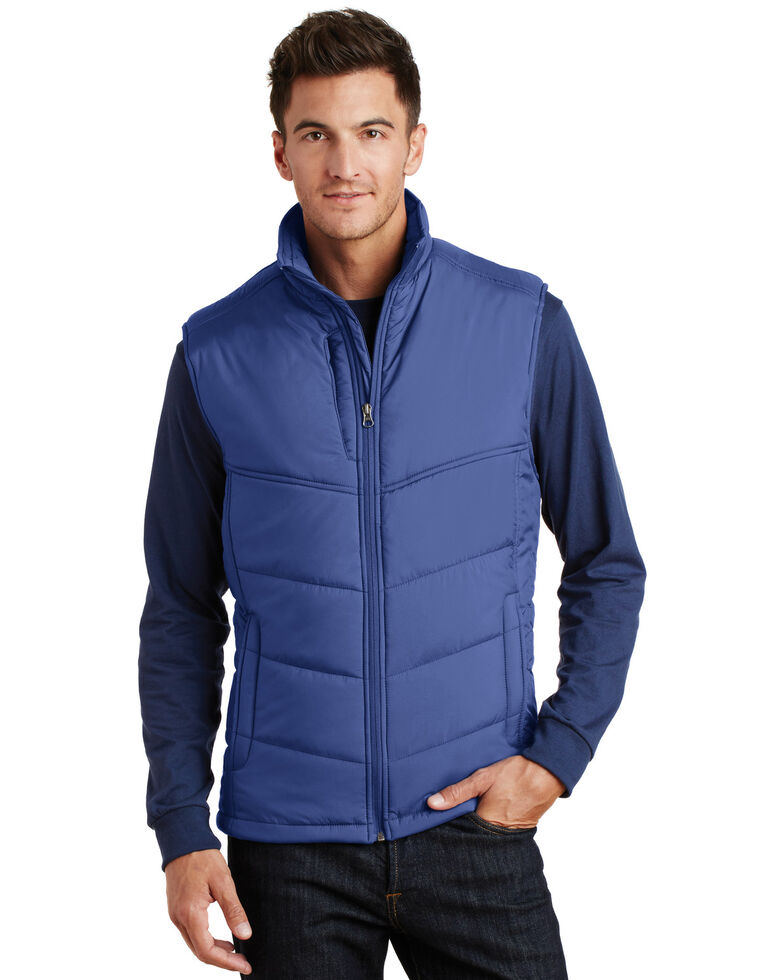 Port Authority Men's Blue Puffy Polyfill Work Vest , Multi, hi-res