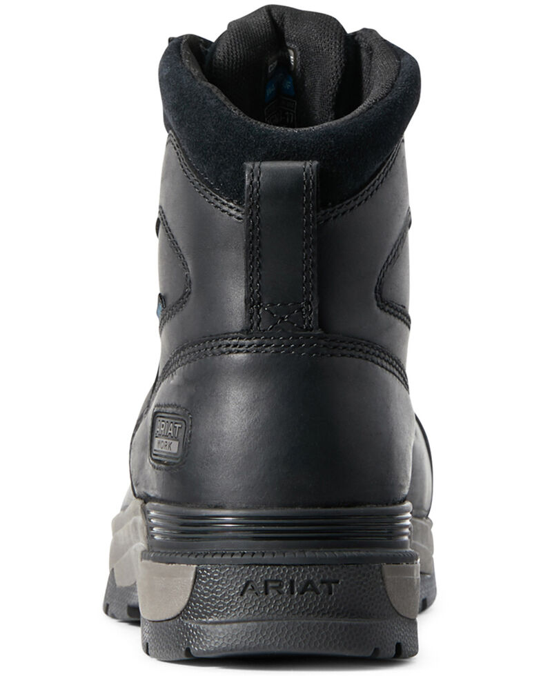 Ariat Men's Black Mastergrip Defend Waterproof Work Boots - Composite Toe, Black, hi-res