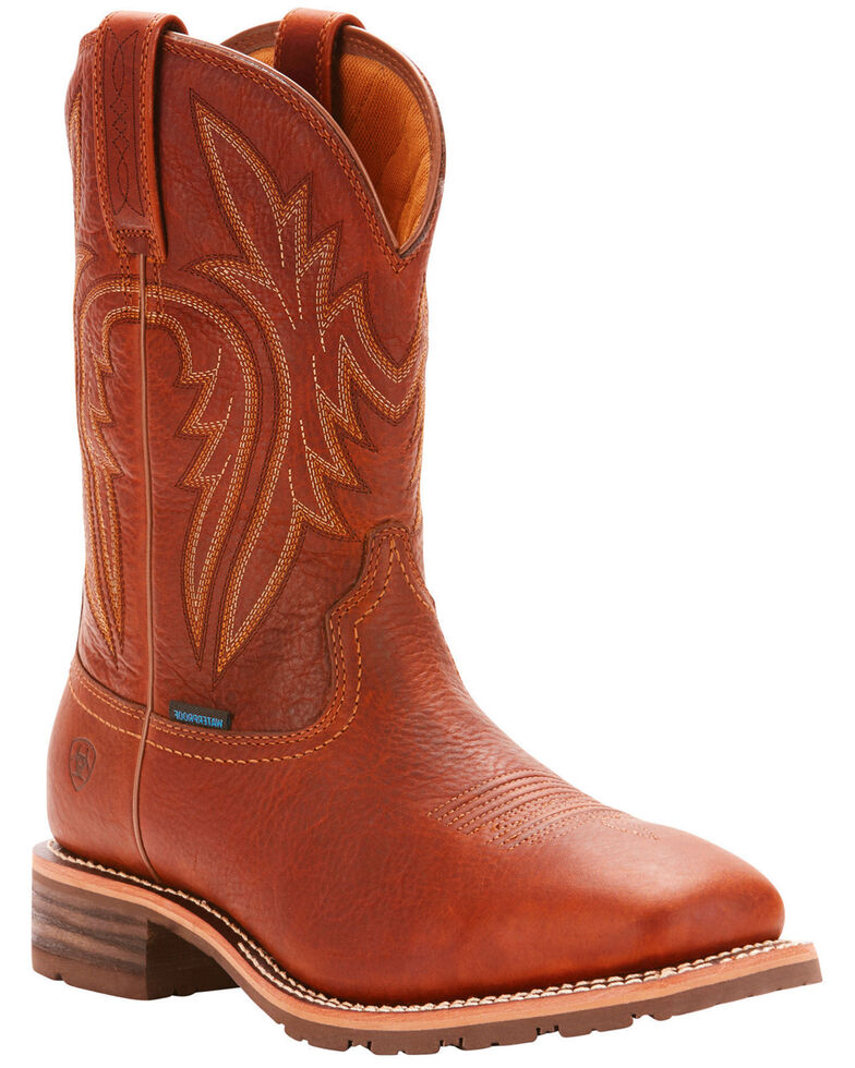 Ariat Men's Brown Hybrid Rancher H20 400G Boots - Square Toe , Brown, hi-res