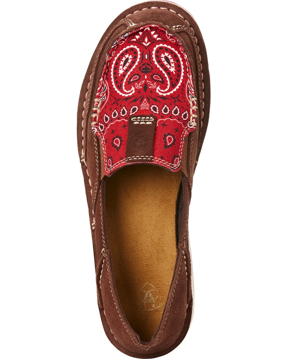 Ariat Women's Red Paisley Print Slip On Cruiser Shoes , Multi, hi-res