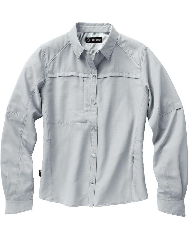 Dri Duck Women's Release Long Sleeve Shirt - Plus, Grey, hi-res
