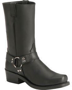 "Boulet Men's 12"" Unlined Motorcycle Harness Boots, Black, hi-res"