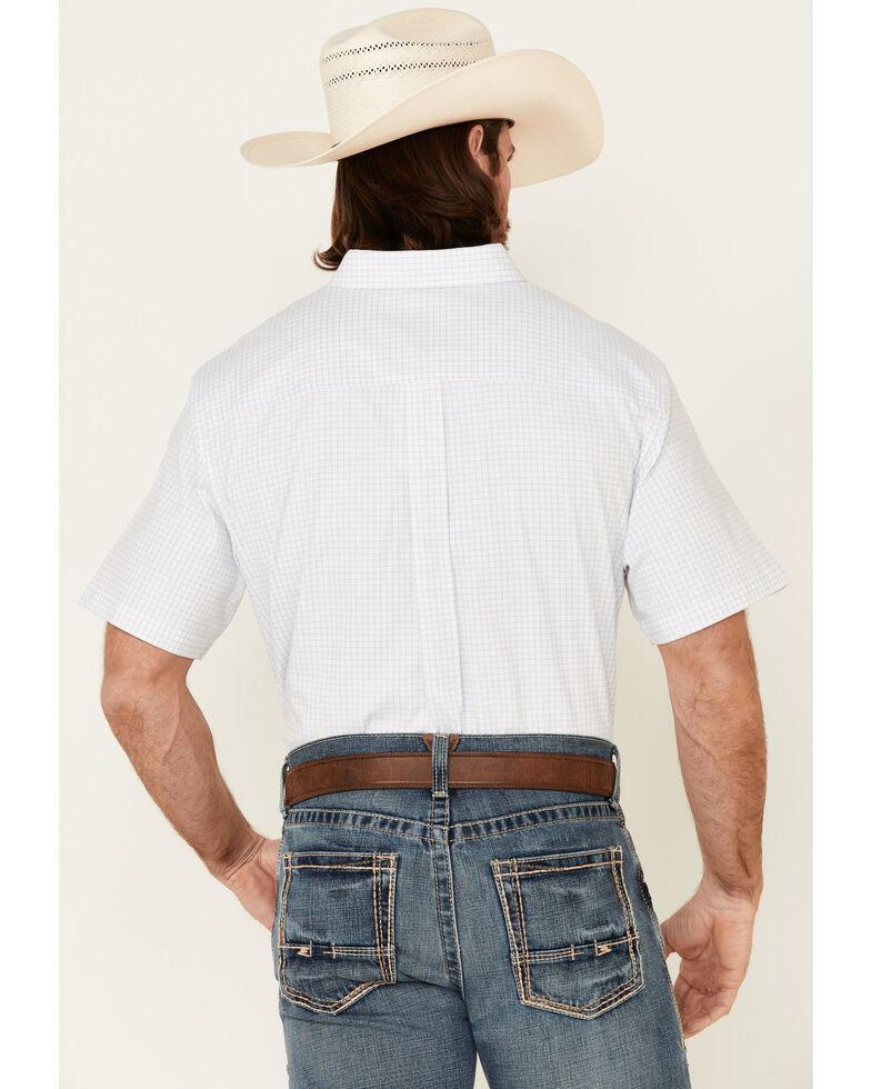 Cody James Core Men's Wichita Small Plaid Short Sleeve Button-Down Western Shirt  , Light Blue, hi-res