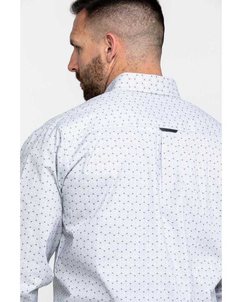 Tuf Cooper Men's Black Stretch Poplin Print Long Sleeve Western Shirt , Black, hi-res