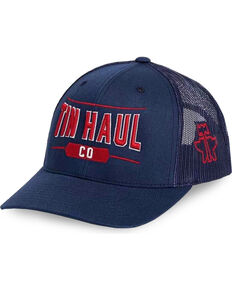 Tin Haul Men's Navy Co. Mesh Back Baseball Cap , Navy, hi-res