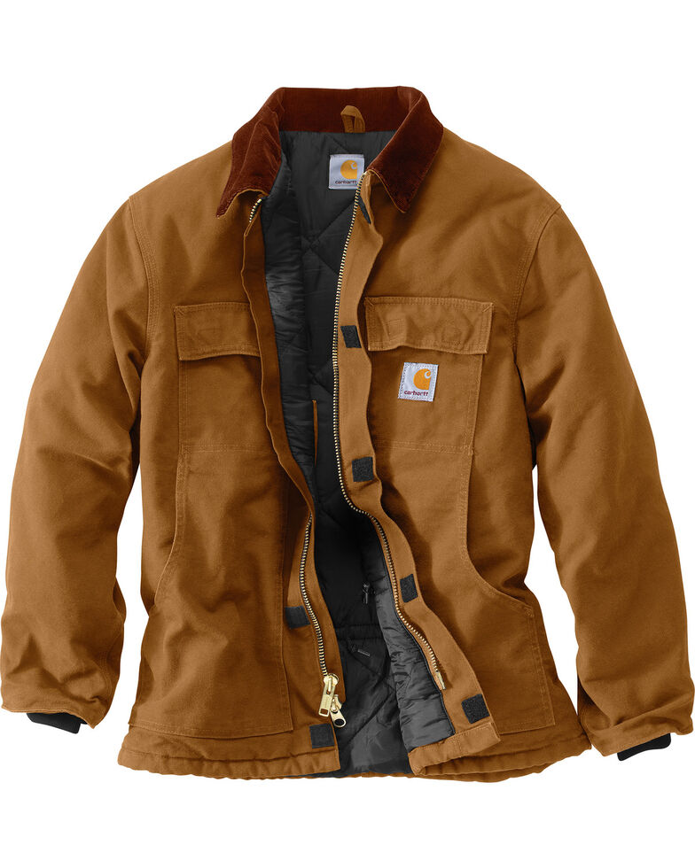 e5d25307cbe7 ... Brown Hi Res. Carhartt Men S Duck Traditional Arctic Quilt Lined Coat  Boot Barn