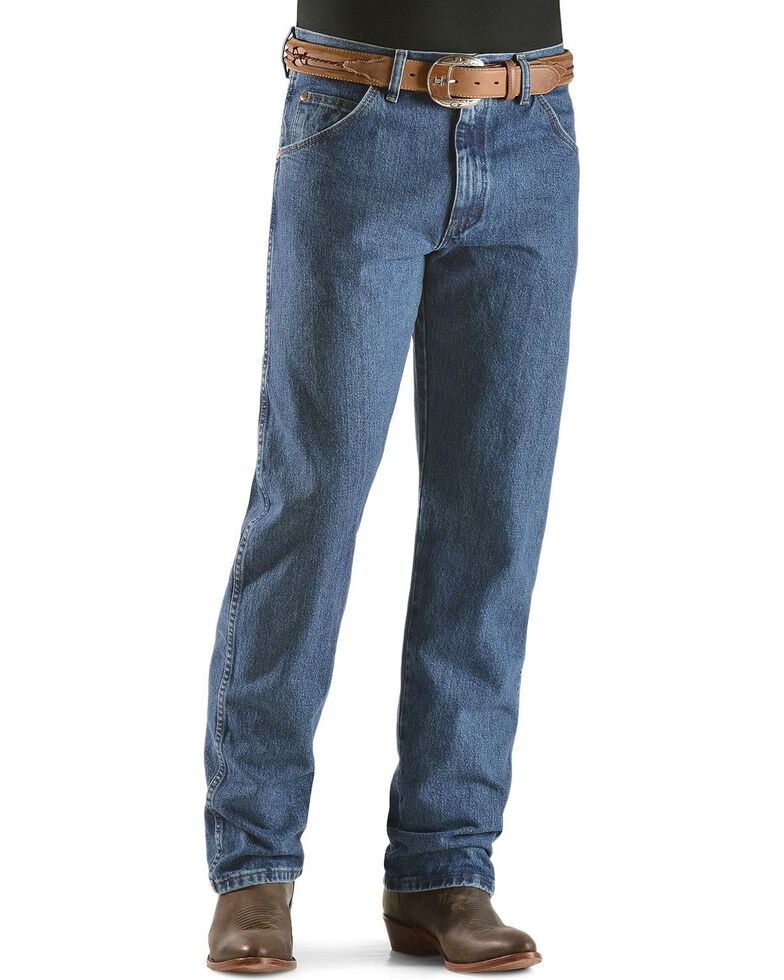 Wrangler 31MWZ Cowboy Cut Relaxed Fit Jeans , Stonewash, hi-res