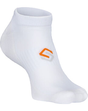 Scentlok Technologies Men's White Ultra Light No Show Socks, White, hi-res
