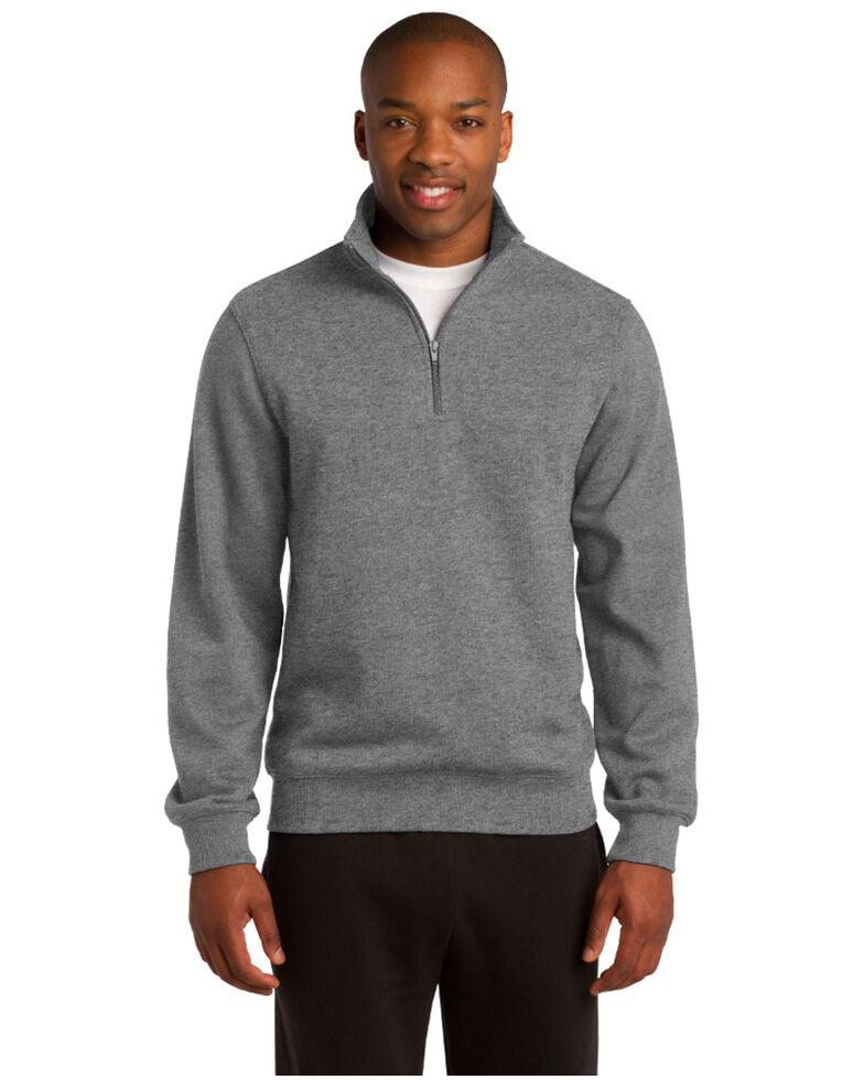 Sport Tek Men's 1/4 Zip Pullover Sweatshirt , Grey, hi-res