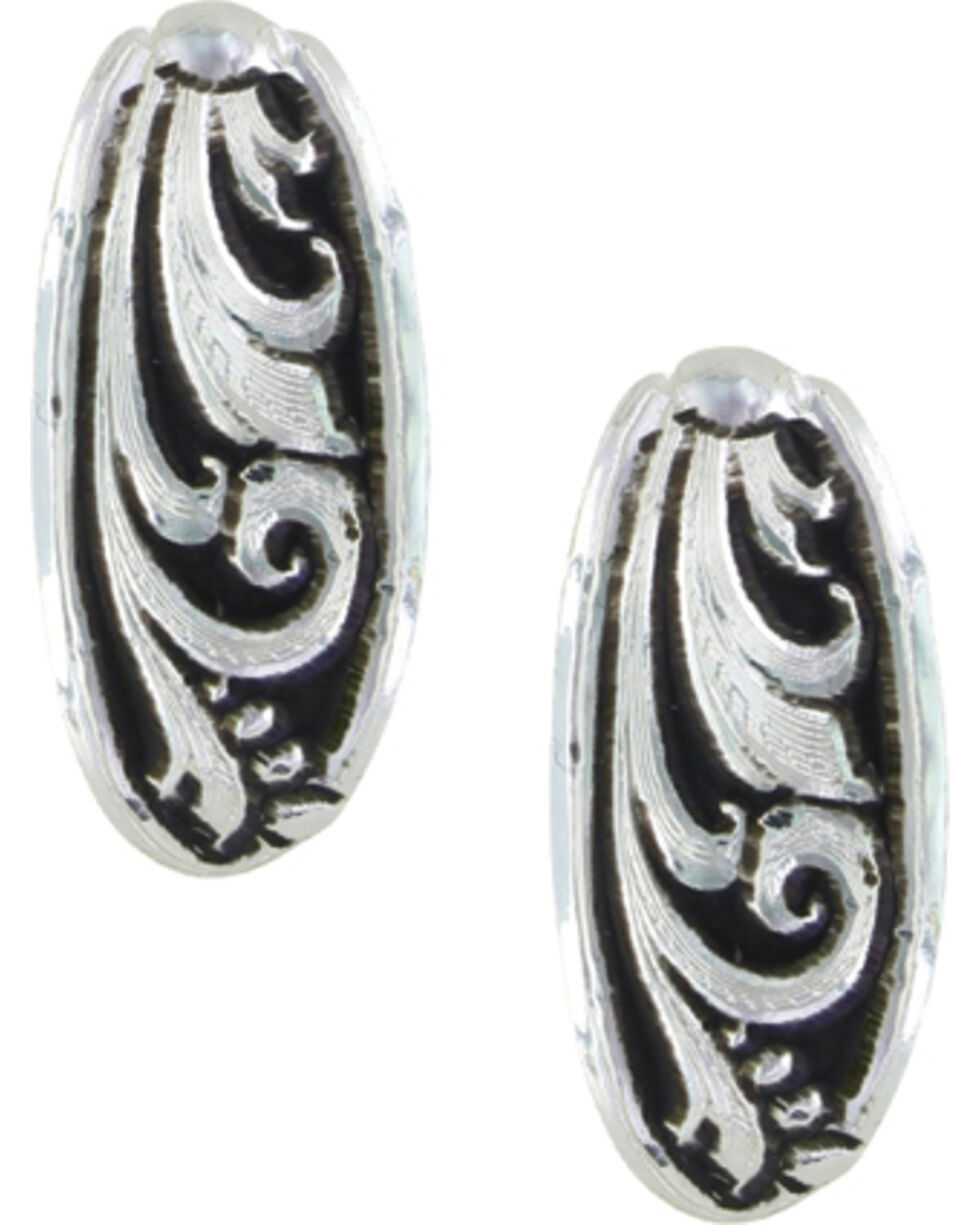 Montana Silversmiths Women's LeatherCut Trailing Vine Half Loop Earrings , Silver, hi-res