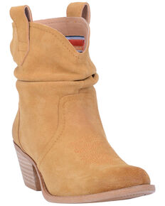 Dingo Women's Yellow Jackpot Western Booties - Round Toe, Dark Yellow, hi-res