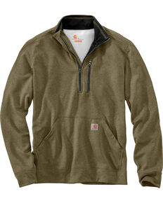 Carhartt Men's Force Extremes Mock-Neck Half-Zip Pullover, Olive, hi-res