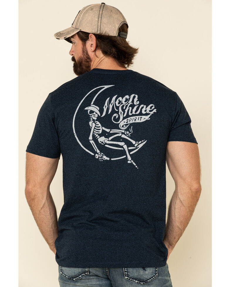 Moonshine Spirit Men's Man On The Moon Graphic Short Sleeve T-Shirt , Black, hi-res