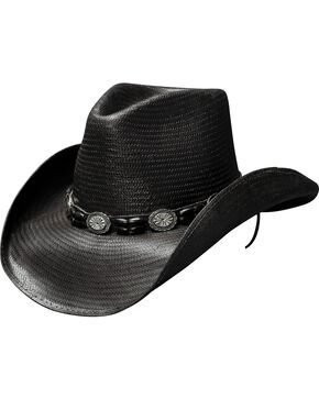 Bullhide Women's Black Hills Straw Hat, Black, hi-res