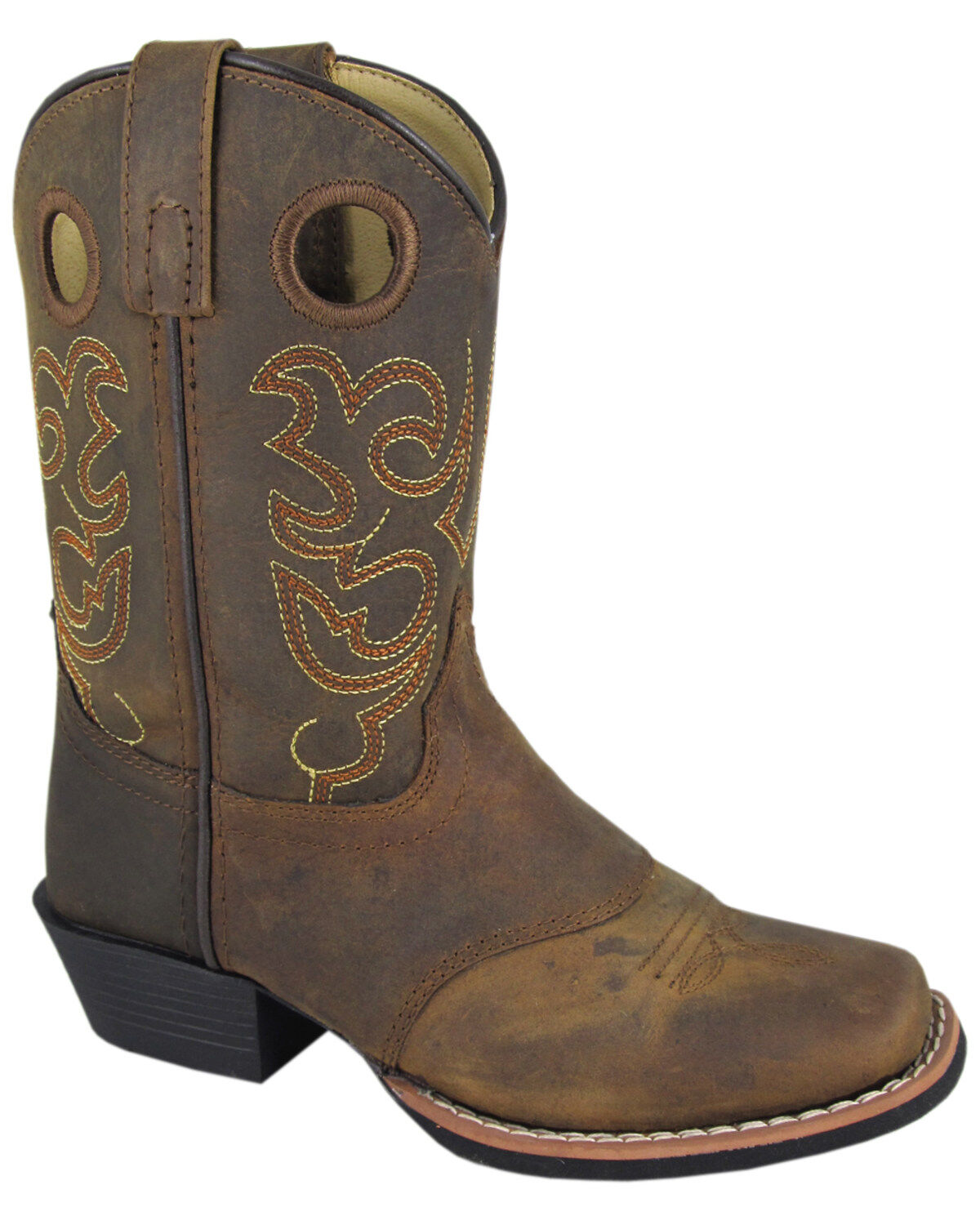 Smoky Mountain Boys Monterey Western Cowboy Boots Round Toe Black//Brown