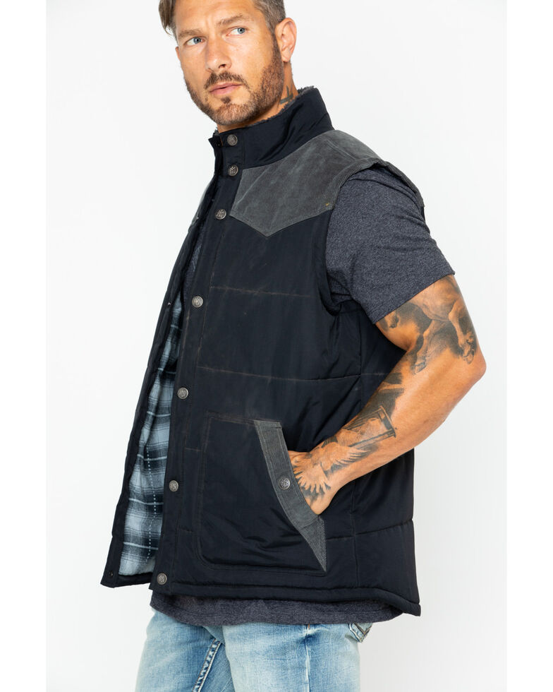 Moonshine Men's Spirit Truckee Vest Solid Snap Quilted k80ZnwPXNO