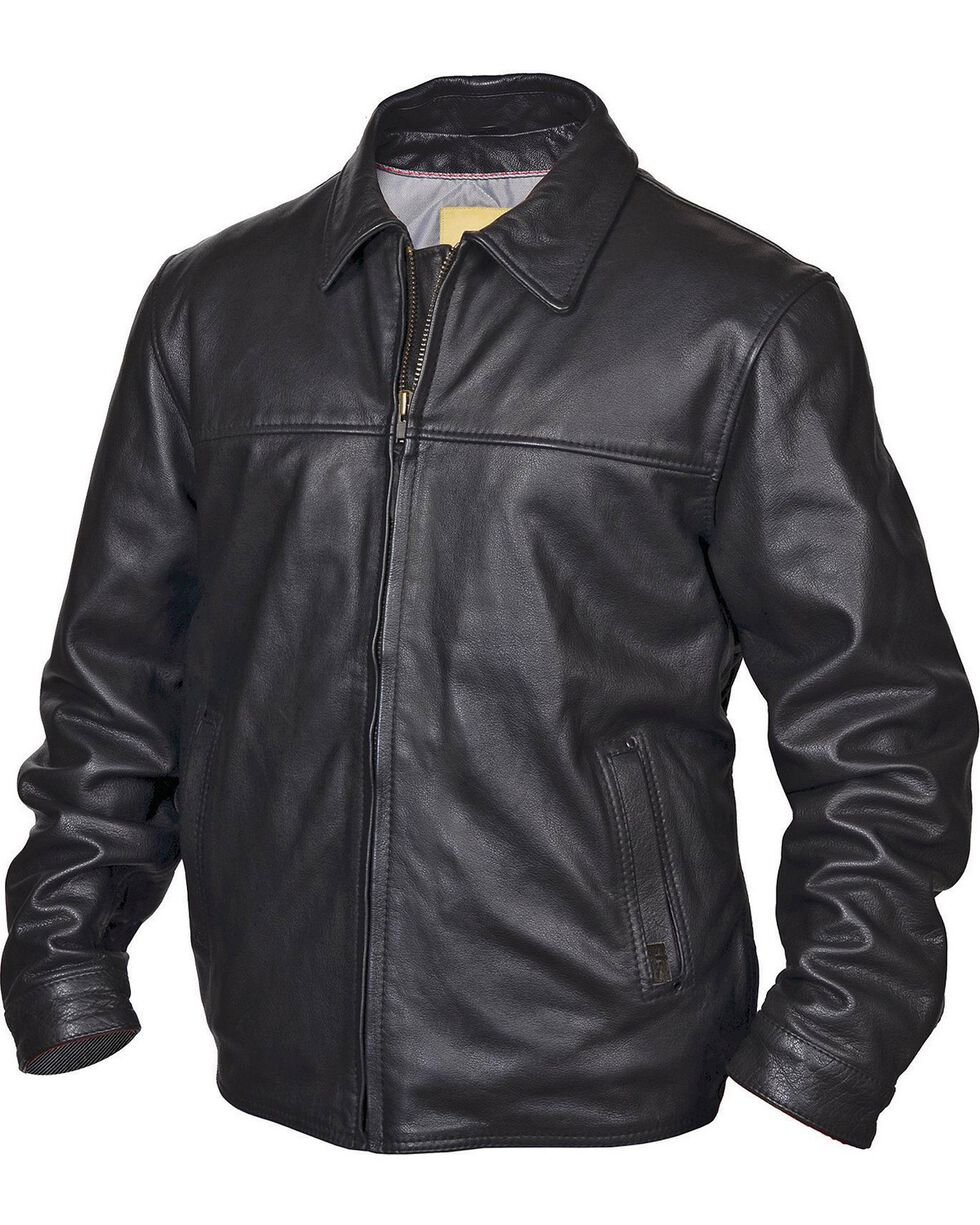 STS Ranchwear Men's Rifleman Black Leather Jacket, Black, hi-res