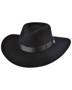 Bullhide Women's Black Street Gossip Western Wool Hat , Black, hi-res