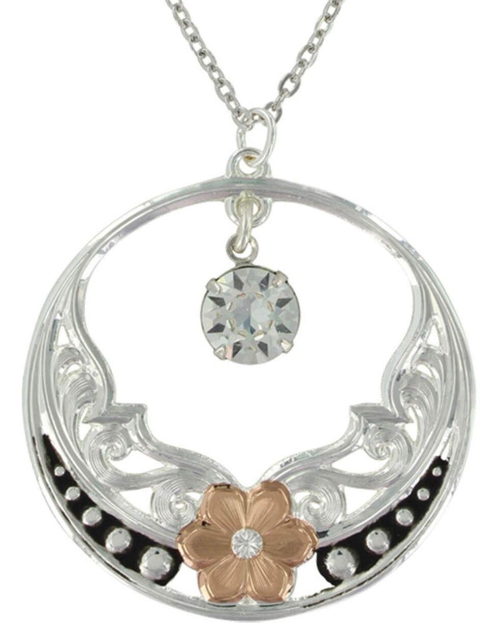 Montana Silversmiths Women's Evening Star's Wild Rose Necklace, No Color, hi-res