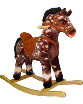 Charm Chai the Spotted Rocking Horse , Brown, hi-res
