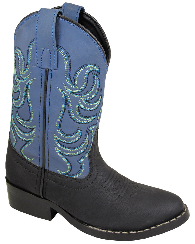 Smoky Mountain Boys' Monterey Western Boots - Round Toe, Black, hi-res