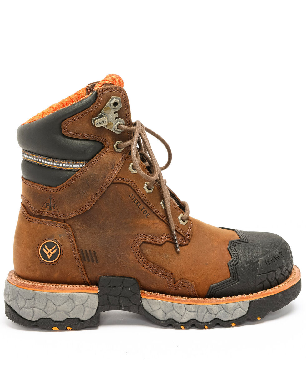 Hawx® Men's Legion Work Boots - Steel Toe, Brown, hi-res
