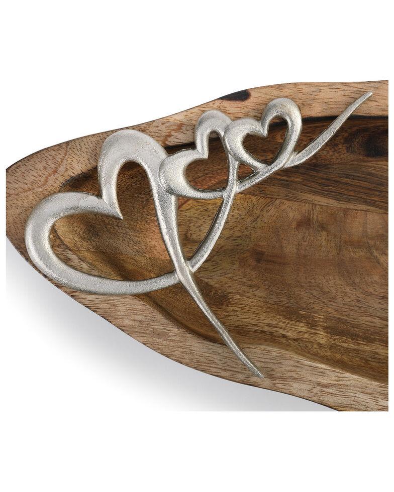 Demdaco Heart Artisan Wood Bowl, No Color, hi-res