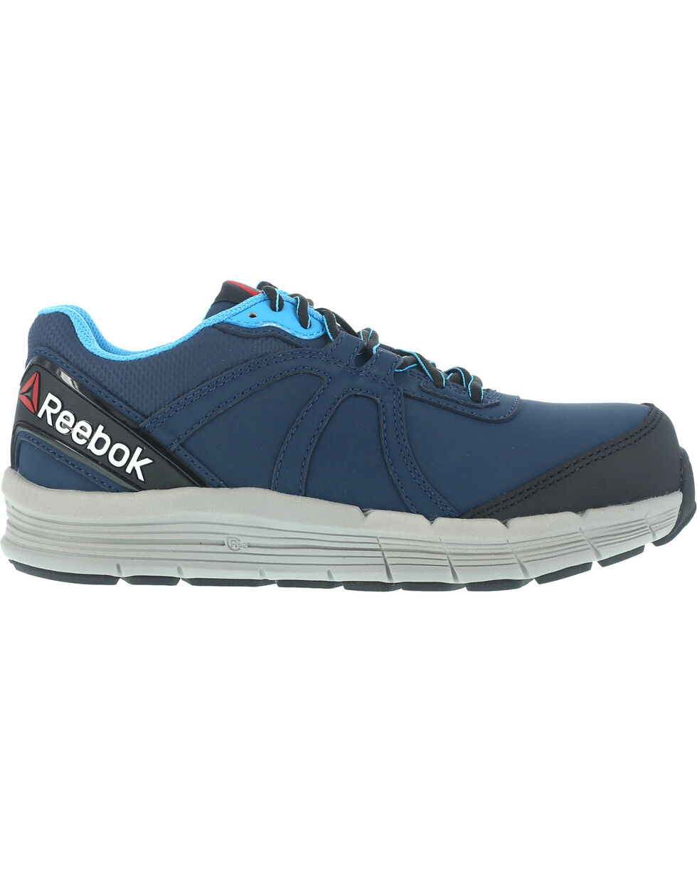 Reebok Women's Guide Athletic Oxford Work Shoes - Steel Toe , Navy, hi-res