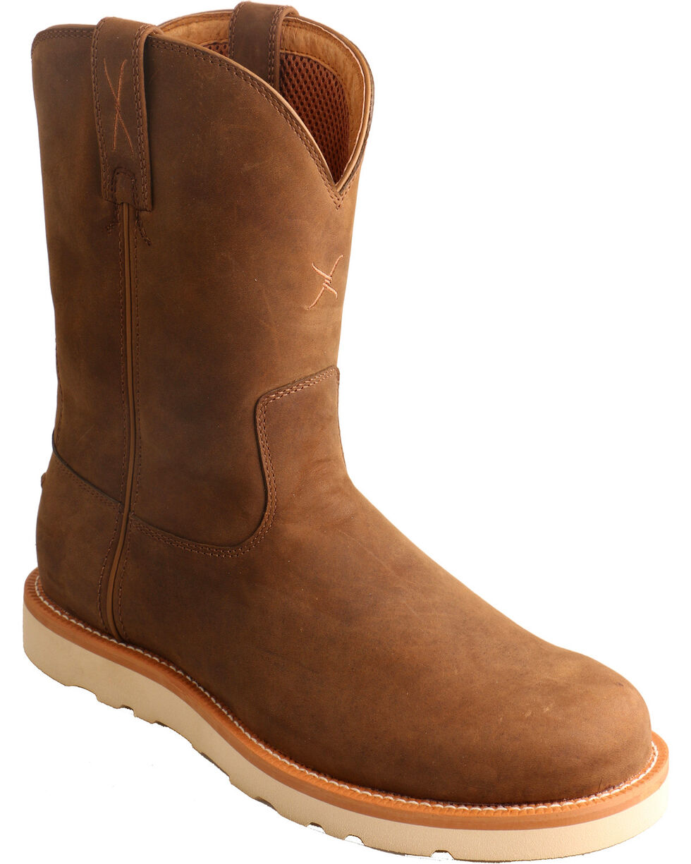 Twisted X Men's Distressed Saddle Casual Western Boots, Brown, hi-res